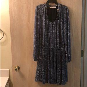 Michael Kors Blue Peasant Dress